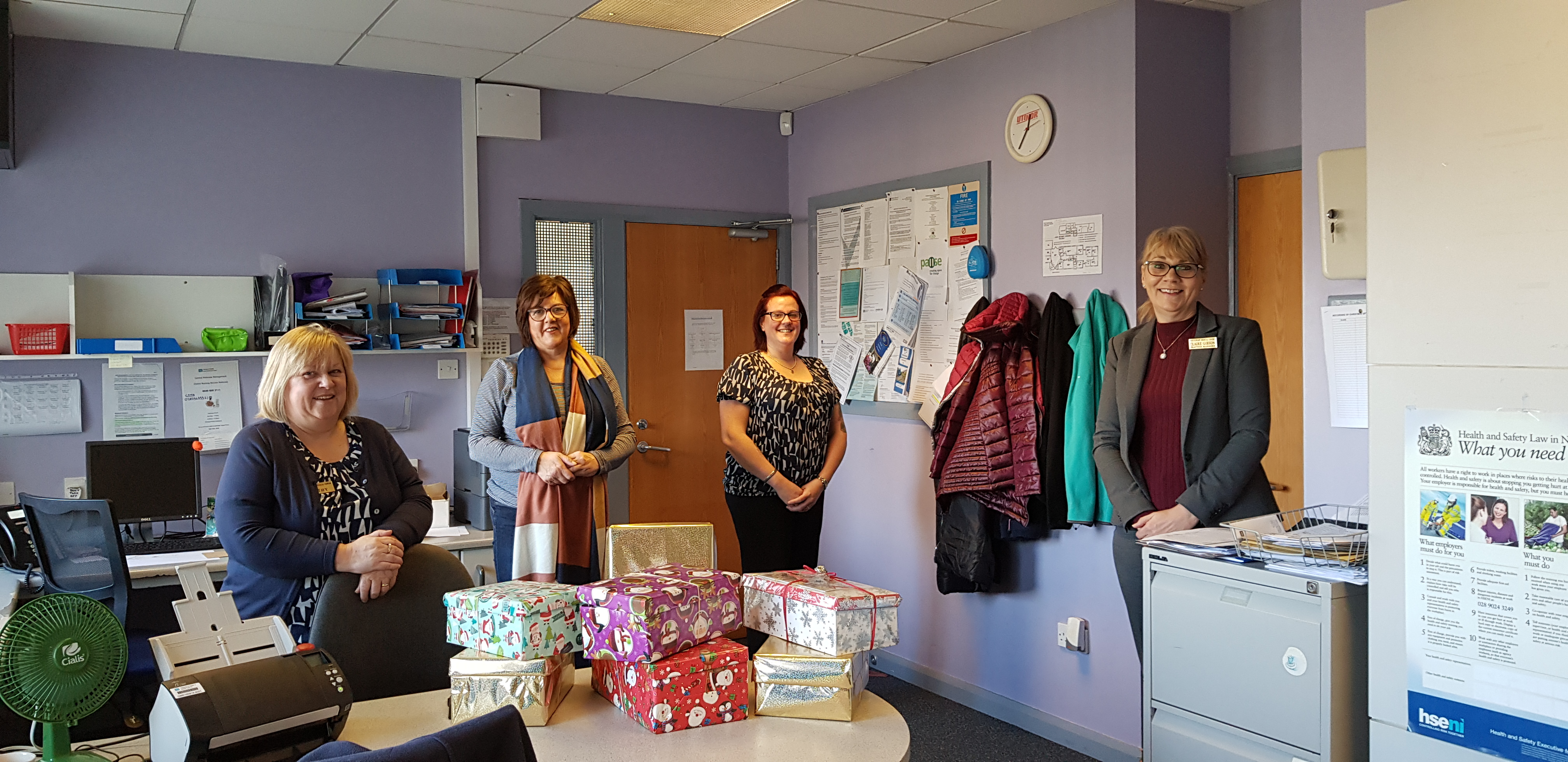 Shoebox Appeal, some of our admin staff who supported this appeal